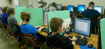5th Grade Uses Privacy Shields During Testing